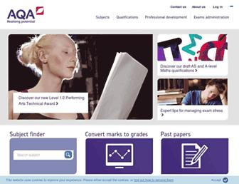 Thumbshot of Aqa.org.uk