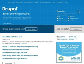 drupal.org screenshot