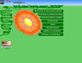 Main page screenshot of medicina.lv