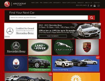 aristocratmotors.com screenshot