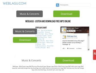 weblagu.com screenshot