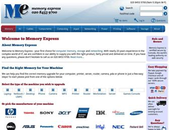memory-express.co.uk screenshot