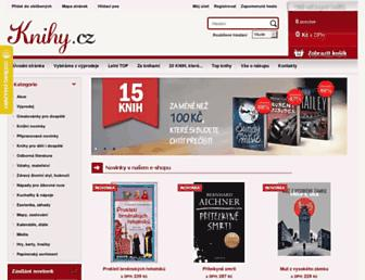 Main page screenshot of knihy.cz