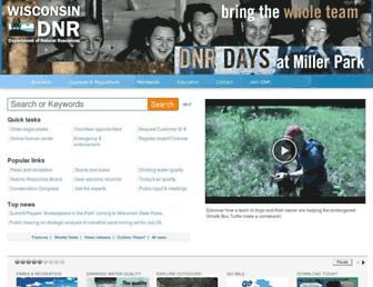 dnr.wi.gov screenshot