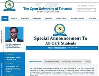 out.ac.tz screenshot