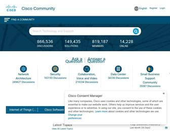 community.cisco.com screenshot