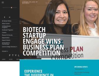 business.wsu.edu screenshot