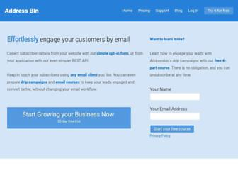 addressbin.com screenshot