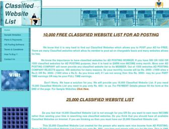 Thumbshot of Freeclassifiedwebsitelist.com
