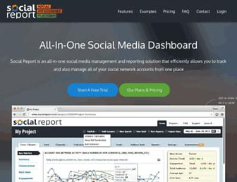 socialreport.com screenshot