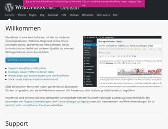 de.wordpress.org screenshot