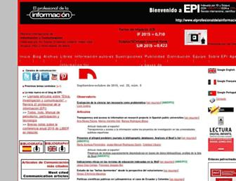 elprofesionaldelainformacion.com screenshot