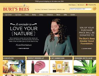 burtsbees.com screenshot