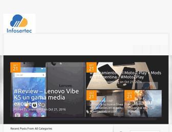 Main page screenshot of infosertec.com.ar