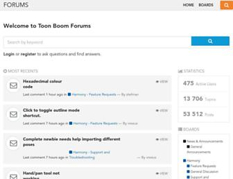 forums.toonboom.com screenshot