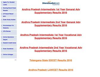 results.bharatstudent.com screenshot