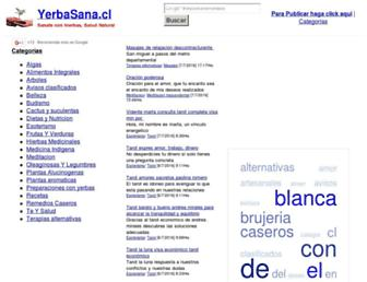 Main page screenshot of yerbasana.cl