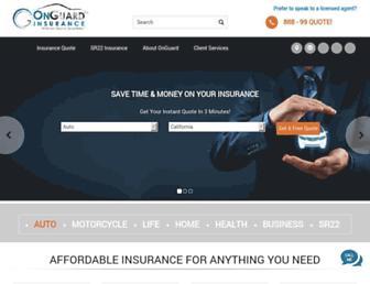 onguardinsurance.com screenshot
