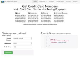 Thumbshot of Getcreditcardnumbers.com