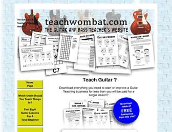 teachwombat.com screenshot