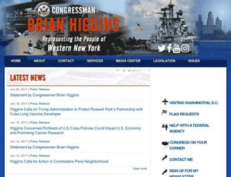 Main page screenshot of higgins.house.gov