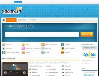 Main page screenshot of bucuresti365.ro