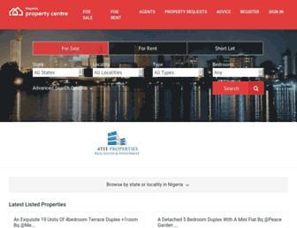 nigeriapropertycentre.com screenshot