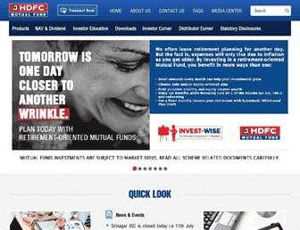 hdfcfund.com screenshot