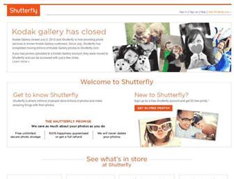 Main page screenshot of kodakgallery.ca
