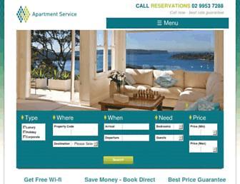 apartmentservice.com.au screenshot