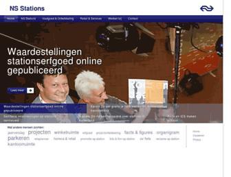 Main page screenshot of nspoort.nl