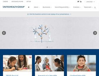 Thumbshot of Unitedhealthgroup.com