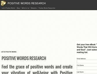 positivewordsresearch.com screenshot