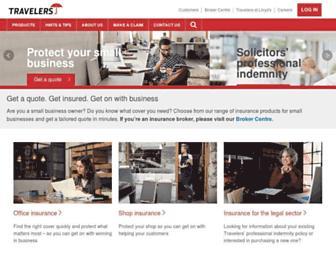 travelers.co.uk screenshot