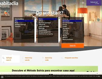 english.habitaclia.com screenshot
