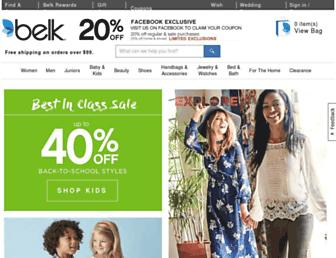 belk.com screenshot
