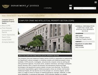 Thumbshot of Cybercrime.gov