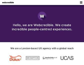 webcredible.com screenshot