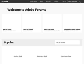 community.adobe.com screenshot