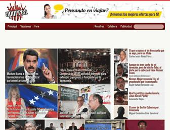 Main page screenshot of aporrea.org