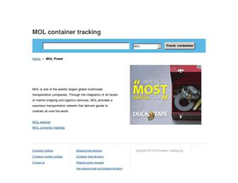 mol.container-tracking.org screenshot