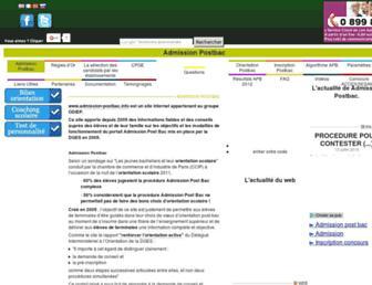Thumbshot of Admission-postbac.info