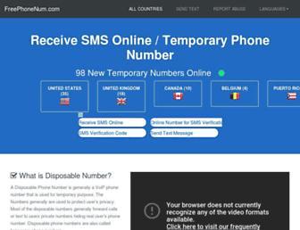 freephonenum.com screenshot
