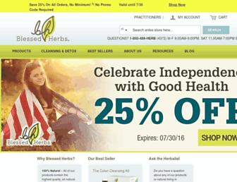 Thumbshot of Blessedherbs.com