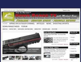 Main page screenshot of downrange.tv