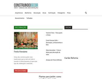 construindodecor.com.br screenshot