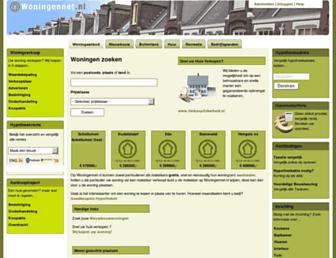 Main page screenshot of woningennet.nl
