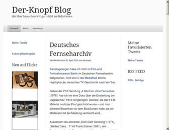 Main page screenshot of der-knopf.de
