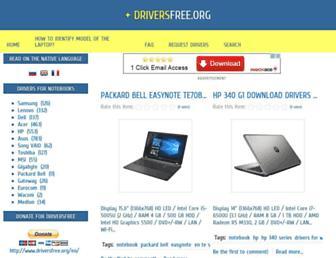 driversfree.org screenshot