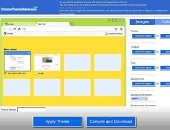 chromethememaker.com screenshot
